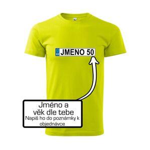 SPZ vlastní jméno - Heavy new - tričko pánske