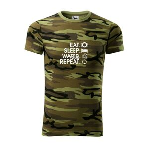 Eat sleep watter polo repeat - Army CAMOUFLAGE