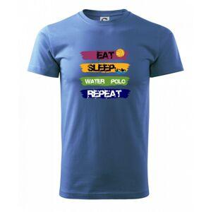 Eat sleep watter polo faarebné - Heavy new - tričko pánske