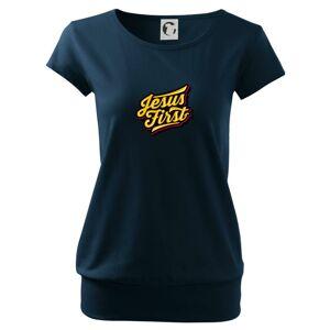 Jesus first žltý - Voľné tričko city