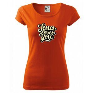 Jesus loves you - písacie písmo - Pure dámske tričko