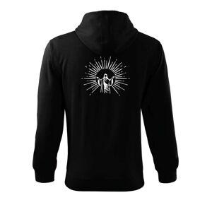 Ježíš a svatozář - Mikina s kapucňou na zips trendy zipper