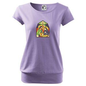 Vitráž - jasličky - Voľné tričko city