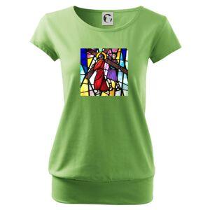 Vitráž - ježiš a kríž - Voľné tričko city