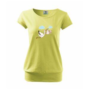 Bocian čakáme bábätko - dievča - Voľné tričko city