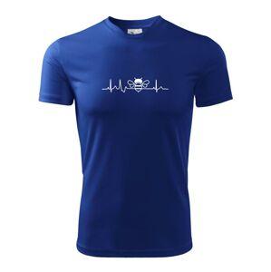 EKG včela - Pánske tričko Fantasy športové