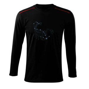 Škorpión - hviezdy a obrázok - Tričko s dlhým rukávom Long Sleeve