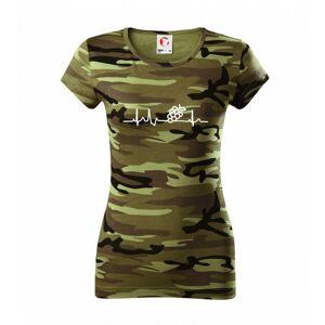 EKG hrozno - Dámske maskáčové tričko