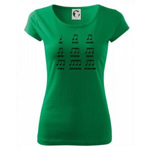 Noty skladatele - Pure dámske tričko