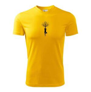 Yoga strom - Pánske tričko Fantasy športové