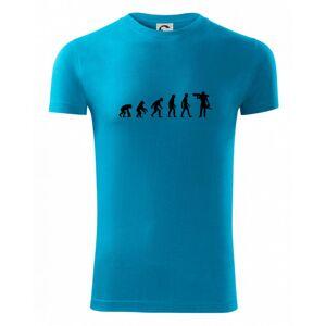 Evolúcia drevorubača - píla a kmeň - Viper FIT pánske tričko
