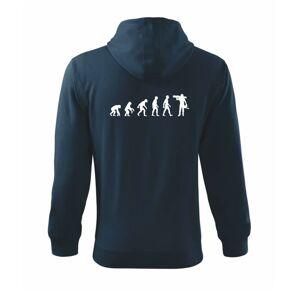 Evolúcia drevorubača - píla a kmeň - Mikina s kapucňou na zips trendy zipper