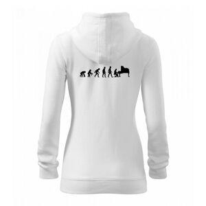 Evoluce piano - Mikina dámska trendy zipper s kapucňou