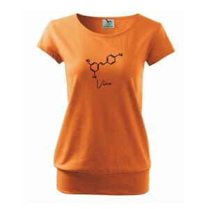Barová chémia - víno - Voľné tričko city