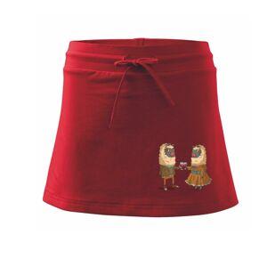 Alpaky s vínom pár - Športová sukne - two in one