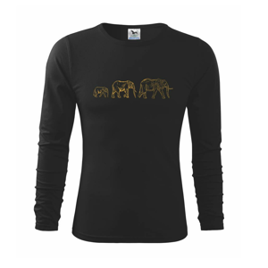 3 slony - Tričko detské Long Sleeve