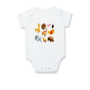 3D zvieratka - Dojčenské body