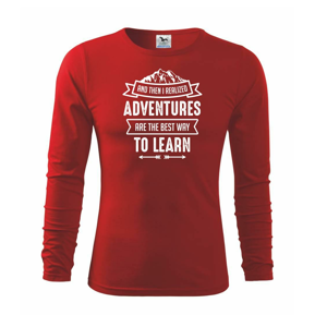 Adventure are best way to learn - Tričko detské Long Sleeve