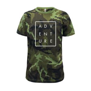 Adventure obdĺžnik - Detské maskáčové tričko
