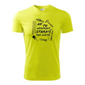 Ak to neopraví STARKÝ tak nikto čiernobiely - Pánske tričko Fantasy športové
