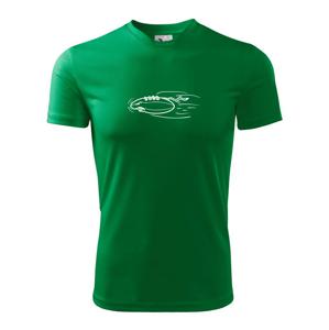 Americký futbal letiaca lopta - Pánske tričko Fantasy športové