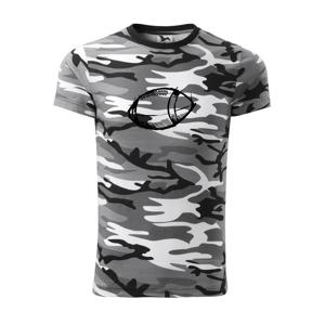 Americký futbal lopta skica - Army CAMOUFLAGE