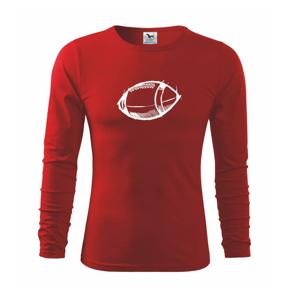 Americký futbal lopta skica - Tričko detské Long Sleeve