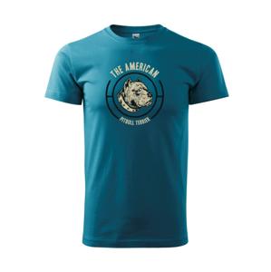 Americký pitbull terier hlava - Heavy new - tričko pánske