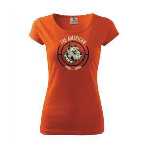 Americký pitbull terier hlava - Pure dámske tričko