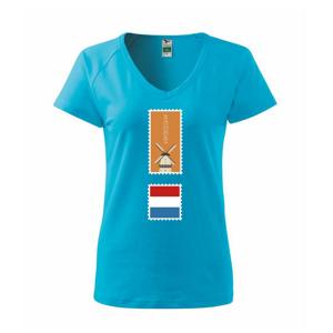 Amsterdam známka farebná - Tričko dámske Dream