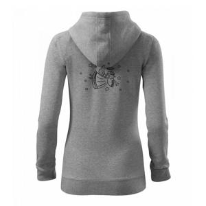 Anjelik hrajúci - Mikina dámska trendy zipper s kapucňou