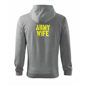 Army Wife - Mikina s kapucňou na zips trendy zipper