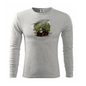 ATV štvorkolka v lese - Tričko s dlhým rukávom FIT-T long sleeve
