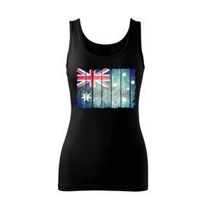 Austrália - vlajka na doskovej stene  - Tielko triumph