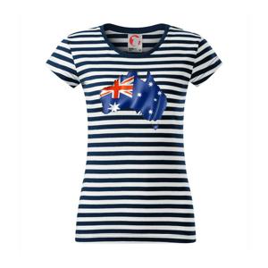 Austrália - vlajka vlajúca mapa - Sailor dámske tričko