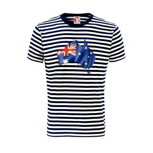 Austrália - vlajka vlajúca mapa - Unisex tričko na vodu