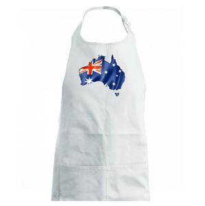 Austrália - vlajka vlajúca mapa - Zástěra na vaření