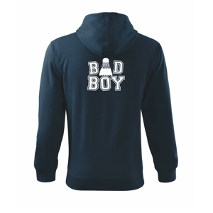 Badminton Bad Boy - Mikina s kapucňou na zips trendy zipper