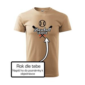 Baseball league vlastný ročník - Heavy new - tričko pánske
