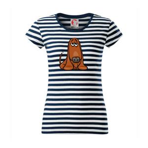 Baset - kreslený hnedý - Sailor dámske tričko