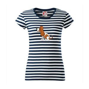 Baset s kulišáckým pohľadom - Sailor dámske tričko