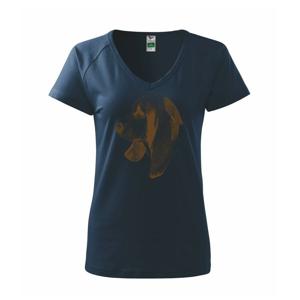 Basset - kreslená hlava - Tričko dámske Dream