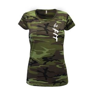 Be FIT - Dámske maskáčové tričko