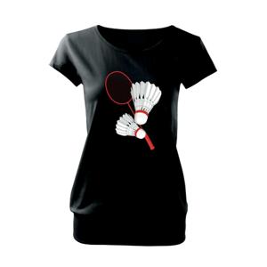 Bedminton - pálka a košík - Voľné tričko city