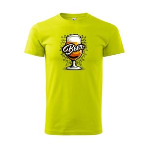 Beer pohár so stopkou  - Heavy new - tričko pánske