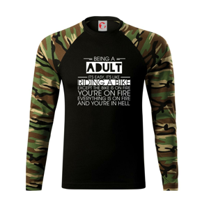 Being a adult - bike - Camouflage LS