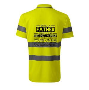 Being a father - bike - HV Runway 2V9 - Reflexné polokošeľa