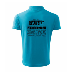 Being a father - bike - Polokošeľa pánska Pique Polo 203