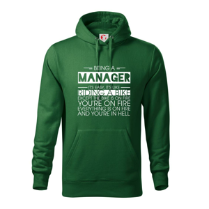 Being a manager - bike - Mikina s kapucňou hooded sweater