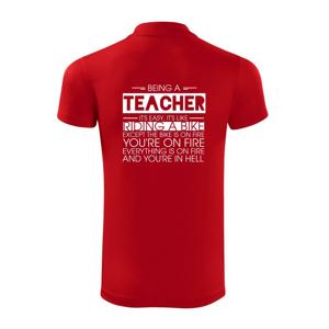 """Being a teacher - bike - Polokošeľa Victory """"športové"""""""